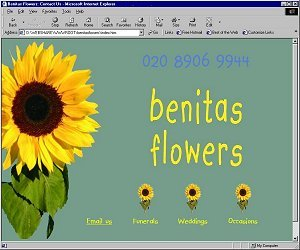 Benitas Flowers Website
